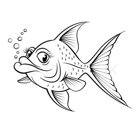 cartoon vis tattoo cartoon zeichnung fisch vektorgrafik colourbox