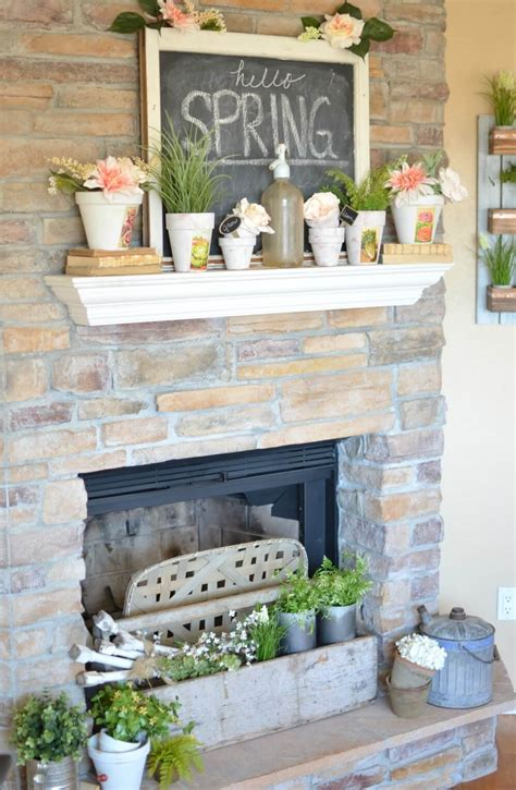 28 best farmhouse mantel decor ideas and designs for 2017 simple spring mantel decor spring