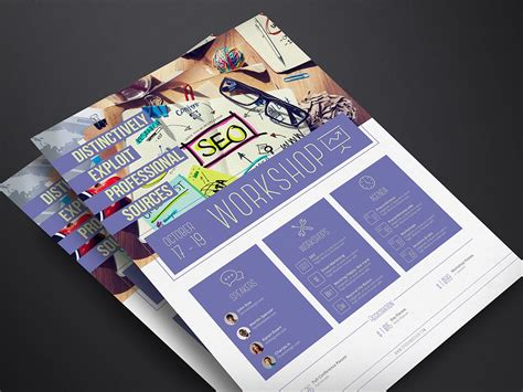 workshop flyer template corporate flyer template workshop stockindesign