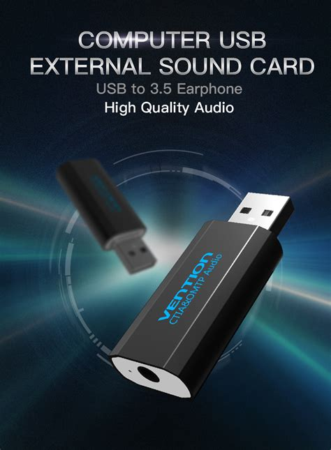 Sound Card Usb Untuk Rekaman vention external usb sound card black jakartanotebook