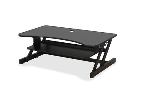 sit to stand desk riser lorell deluxe sit to stand desk riser office