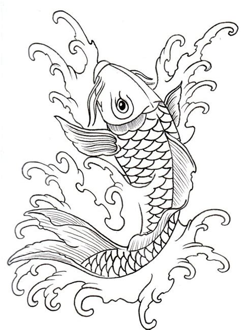 simple koi fish tattoo designs koi outline 08 by vikingtattoo on deviantart rug