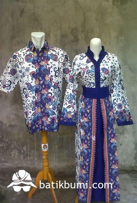 Sarimbit Merah Dress Widjaja Asam Putih batik sarimbit dengan bahan katun dengan motif didominasi dengan gambar gentong warna biru