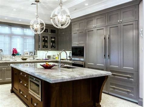 light gray stained kitchen cabinets best 25 grey kitchen island ideas on white