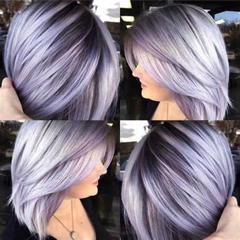 brown hair lavender highlights | dark brown hairs