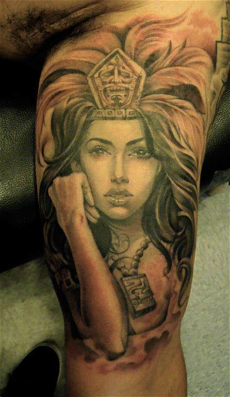 aztec girl tattoos styles magazine aztec tattoos designs part 1
