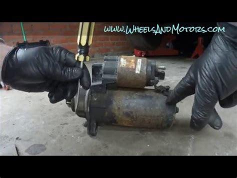 golf mk4 starter motor vw golf 1 9 tdi starter motor removal doovi