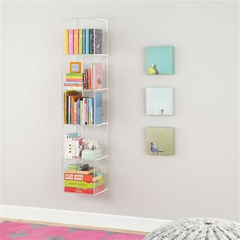lucite bookshelves now you see it acrylic bookcase