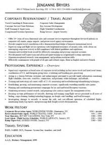 Travel Officer Sle Resume by Travel Resume Exle Resume Exles And Search