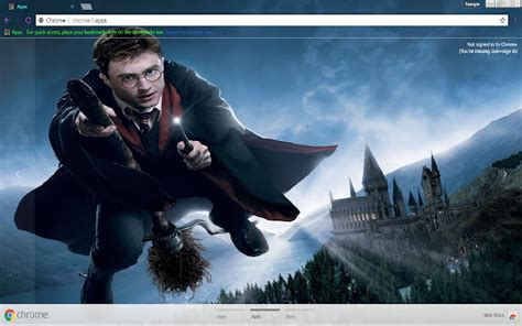 themes google chrome harry potter harry potter 1366x768 chrome web store