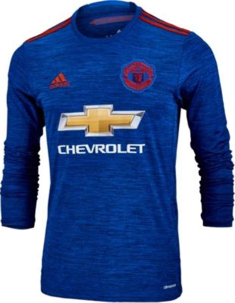 Jersey Manchester United Ls adidas manchester united l s jersey 2016 united away