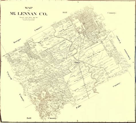 map of mclennan county texas county maps mclennan county texas tx landowner map by land ofc 1896