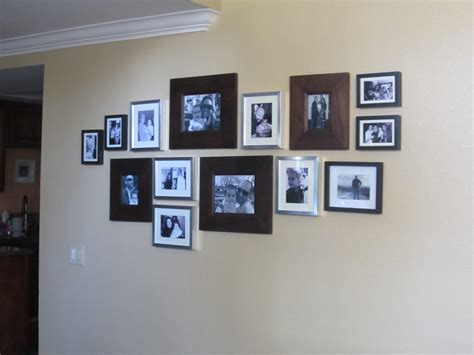 hanging pictures family photo wall diy inspired