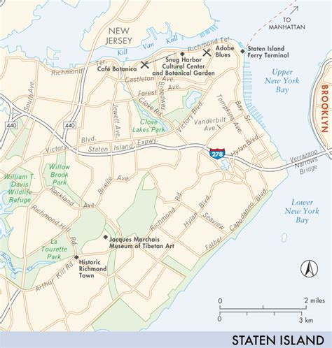 Sections Of Staten Island by Map Of Staten Island Staten Island Fodor S Travel Guides