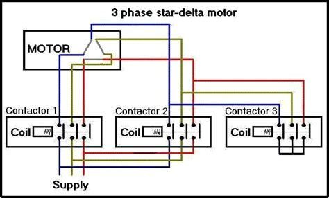 three phase delta wiring diagram delta starter