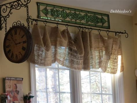 Burlap Kitchen Curtains 17 Best Ideas About Burlap Valance On Burlap Curtains Burlap Kitchen Curtains And