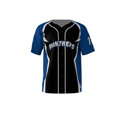 panthers black baseball jersey sublimation