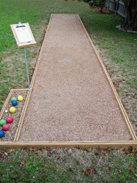 backyard bocce court how to play bocce ball hgtv