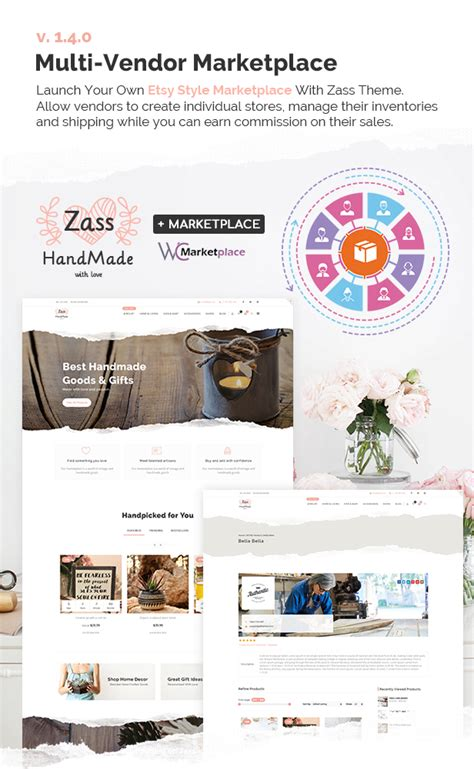 themes compatible with dokan zass woocommerce theme for handmade artists and artisans