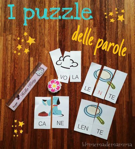 formare parole con delle lettere i puzzle delle parole per imparare la divisione in sillabe
