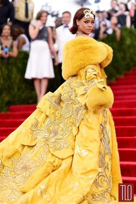 vogue and the metropolitan met gala 2015 rihanna in guo pei couture tom lorenzo