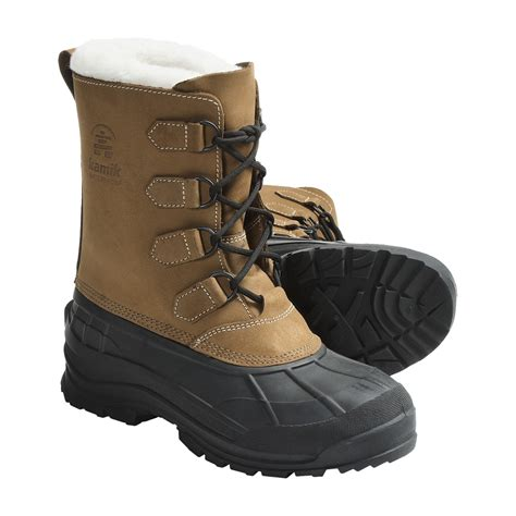 pac boots kamik eagle river winter pac boots for 4633f save 36