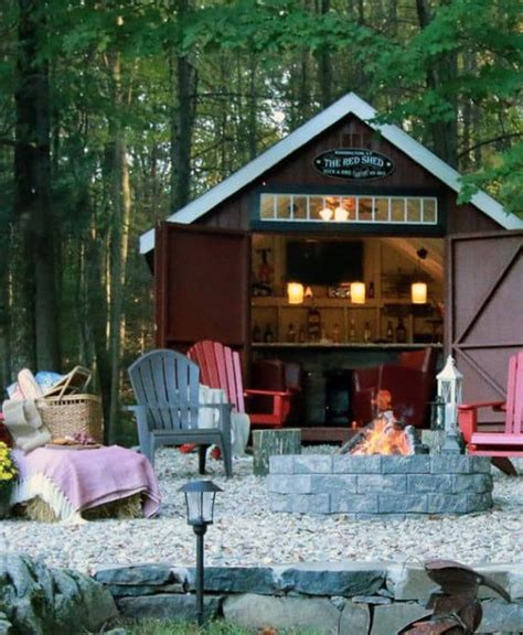 pub shed bar ideas  men cool backyard retreat designs
