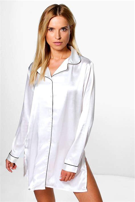 Shirt Maisy De boohoo womens maisy satin button through shirt ebay