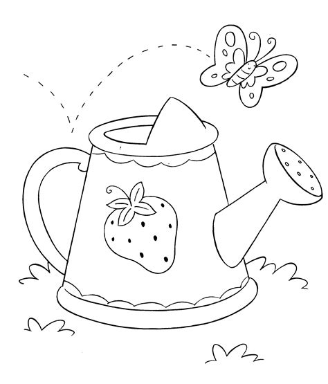 watering can coloring page printable sketch coloring page