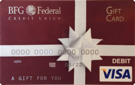 Visa Gift Card Returns - bfg federal credit union debit and credit cards prepaid cards