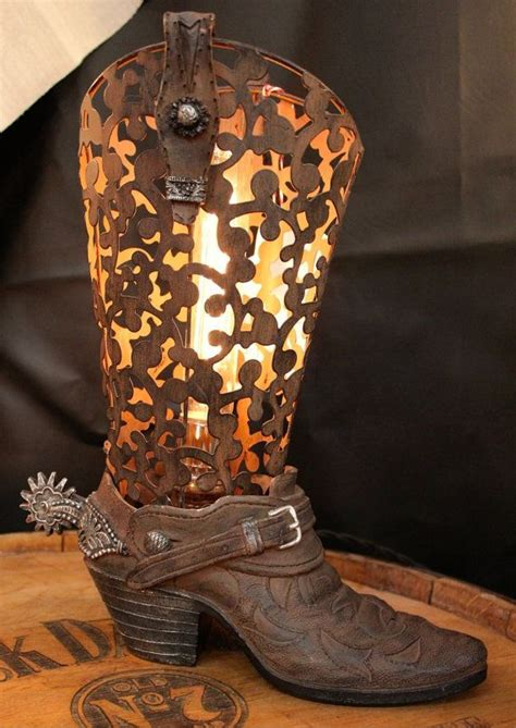 vintage western home decor vintage cowboy boot l by industrialighting on etsy