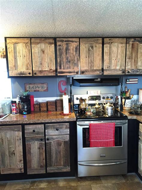 kitchen cabinets using pallets