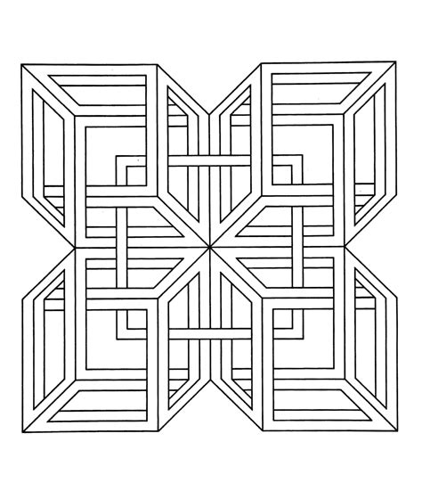difficult geometric coloring pages hardest page ever coloring pages