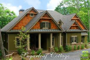 mountainside house plans sugarloaf cottage mountain style cottage house plan