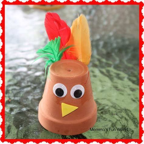 How To Make A Thanksgiving Turkey Out Of Construction Paper - momma s world turkey terra cotta pot craft