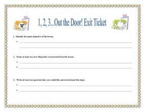 classroom exit ticket template exit ticket