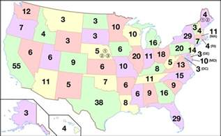 united states map with numbers electoral college united states