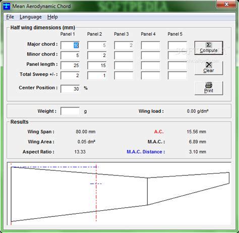 aerodynamic chord download mean aerodynamic chord 2 8 0 incl crack serial keygen