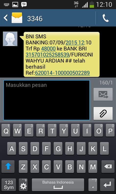 format sms banking bni telkomsel cara praktis sms banking bni ke bri