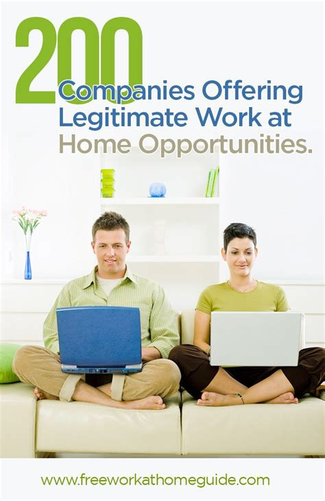 200 companies offering legitimate work at home work