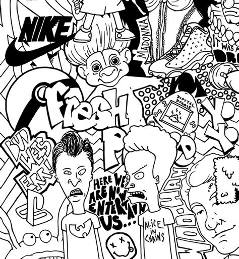 S Drawing 90s by 90 S Collage Illustration On Behance