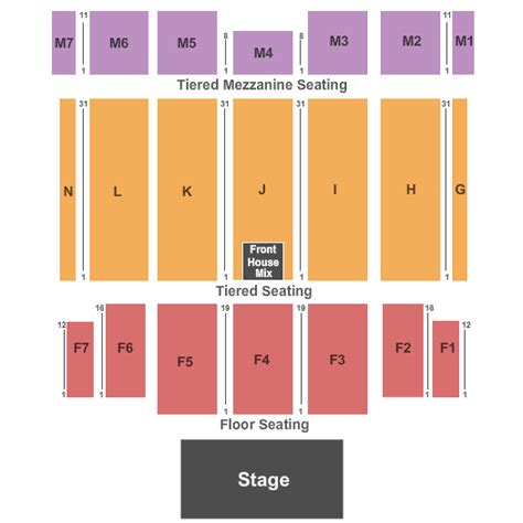 caesars windsor floor plan tso tickets the colosseum at caesars windsor seating