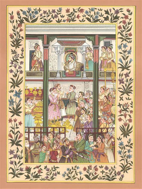 Paintings Handmade - mughal empire miniature handmade moghul dara shikoh
