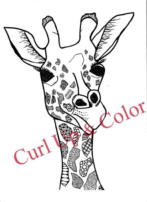 zentangle giraffe coloring pages 1000 images about coloring pages on pinterest coloring