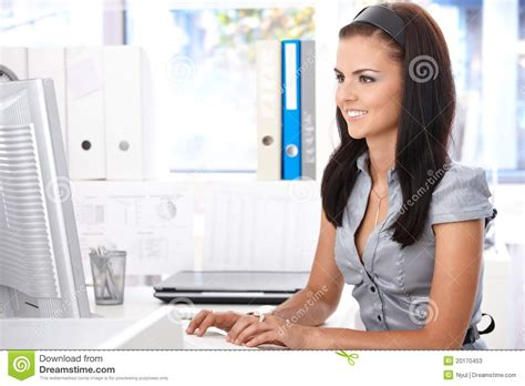 Office Worker At Desk Office Worker At Desk Stock Photos Image 20170453