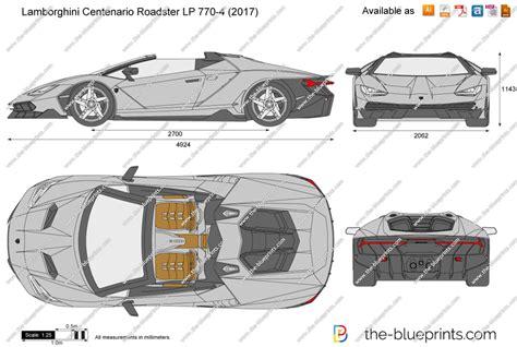 Centenario Lp 770 4 by Lamborghini Centenario Roadster Lp 770 4 Vector Drawing