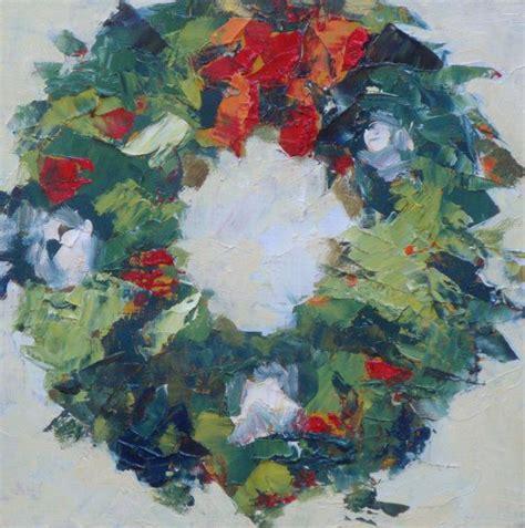 life oil painting christmas wreath    christmas paintings christmas canvas