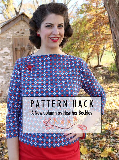 sewing pattern hacks pattern hack lark tee into a vintage top 11 19 15