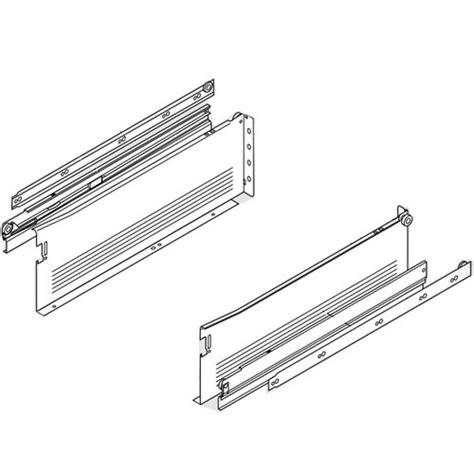 metal drawer slide brackets blum metabox slide 6 quot h x 18 quot l white w front fix brackets