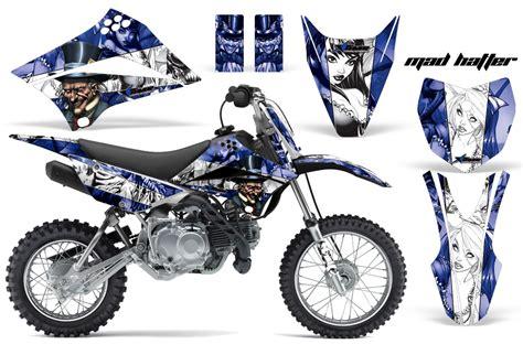 Decal Motor Kawasaki Klx Bf Stripe Line 1 2010 2016 klx110 graphics kit kawasaki motocross graphic sticker decal kit kawasaki mx